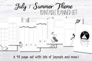 Printable Planner inserts - July/Summer Planner kit