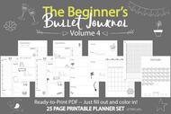 Doodle Bullet Journal Printables (bujo)  VOLUME 4! - Printable Planner Inserts ready to fill in and COLOR IN! ready to go pdf!