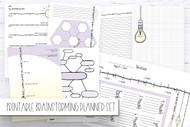 Brainstorming Planner / Journaling Bundle  - Purple