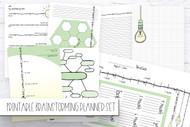 Printable BRAINSTORMING 8 page planner / bullet journal inserts set- Printable Planner Inserts in PDF format in GREEN