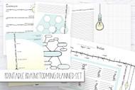Printable BRAINSTORMING 8 page planner / journal inserts set- Printable Planner Inserts in PDF format - in TEAL