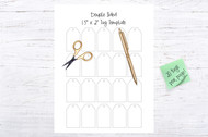 "Printable/Digital Tag Template-1.5"" x 2"" Blank Gift Tags-tag template - pdf, png, svg, eps - Create your own TAGS-Can be used double sided!"