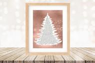 Twas the Night Before Christmas Printable Tree Art - Traditional / Rose Gold -  Printable Christmas Wall Art for home decor and DIY Gifts