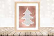 Twas the Night Before Christmas Printable Tree Art - Modern  Tree / Rose Gold -   Printable Christmas Wall Art for home decor and DIY Gifts