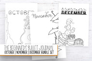 Bullet Journaling Printables - October, November & December Planner Bundle