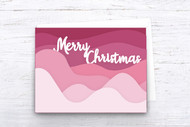EPS / SVG Layered Christmas Card template - SVG Cut Files - Layered Card Cut Files