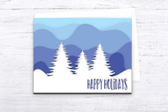 EPS / SVG Layered Christmas Card template #2 - SVG Cut Files - Layered Card Cut Files