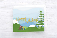 EPS / SVG Layered Christmas Card template #3 - SVG Cut Files - Layered Card Cut Files