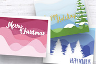 EPS / SVG Layered Christmas Card template TRIO - SVG Cut Files - Layered Card Cut Files