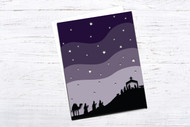 EPS / SVG Layered Christmas Card template #4 - Christmas Nativity - SVG Cut Files - Layered Card Cut Files