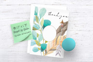 Printable Thank You Card with cut out window for round lip balm gift (printable card template only-no lip balm included)PDF & PNG printables