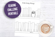 Printable Reading Challenge - 30 Book Reading Challenge Printable for Planners and Journals