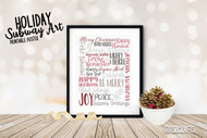 Holiday Subway Art - Printable Poster Design