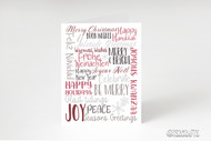 Winter Holidays Subway Art - Printable Greeting Card