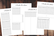 Three (3) Month At-a-Glance Printable Calendar Set