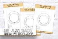 Printable Mood Tracker Sticker Set - for Planners and journals - with tutorial!