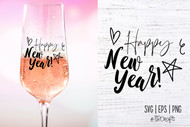 Happy New Year SVG - Happy New Year Clip Art - Happy New Year Digital Design for New Year Decor and Gifts