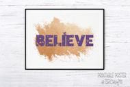 Printable Wall Art - Believe Fairies printable poster