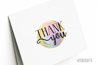 Printable Thank You Card - Watercolor and Gold design