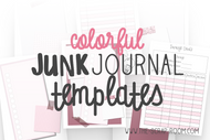 Journal Printables -Color Printable Planner Set in PINK - Daily, Weekly, Monthly layouts, Habit Trackers, Budgeting worksheets & more