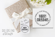 "Printable Christmas Gift Tags - 3"" Round - Do Not Open Until Christmas Gift Tags - Printable Xmas Gift Tag/Sticker"