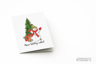 Printable Card - Warm Holiday Wishes Card - Printable watercolor Christmas card - Greeting Card Printable design - A2 card