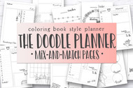 NEWLY UPDATED! Journal Printables /Planner Inserts, Ultimate Doodle Planner Templates bundle, coloring book printable planner inserts