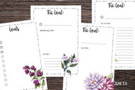 Planner/Journal printables - two 4 page undated Resolutions / Goals printable planner sets (8 pgs total)
