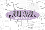 Printable Bullet Journal printable inserts- Bullet Journaling Kit - Daily, Weekly and Monthly templates for print or use in digital planners