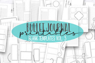 Bullet Journal Printables - Bullet Journal Templates Vol. 3 -Daily, Weekly and Monthly templates for print or use in digital planners
