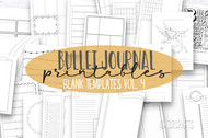 Bullet Journal Printables - Bullet Journal Templates Vol. 4 -Daily, Weekly and Monthly templates for print or use in digital planners