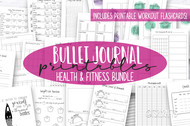 Fitness Planner Printables - Journal Printables - Health & Fitness Goals - Includes Meal Planning Pages + workout flashcards