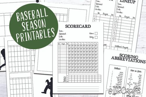 This is a photo of Baseball Scorecard Printable inside baseball field roster
