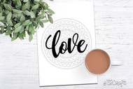 Bullet Journal Printable - LOVE heart mandala Planner Printable Divider Page - Heart Mandala - Adult Coloring Book style journal cover