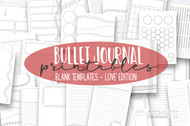 Bullet Journal printable inserts- Bullet Journaling Kit - Daily, Weekly and Monthly templates for print or use in digital planners - LOVE 1