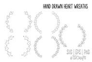 Heart Frames - Heart Frame Digital Designs - Instant download - Heart Frame Clip art & Cut Files
