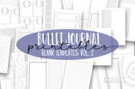 Bullet Journal printable Templates Volume 2