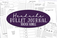 Bullet Journal printable inserts- Bullet Journaling Kit - FOR HEADACHES - Headache Tracker  - Track patterns in your headaches