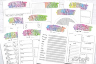 Printable Planner Kit - 10 page bundle - Rainbow 2