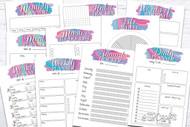 Printable Planner Kit - 10 page bundle - Rainbow 1
