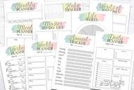 Printable Planner Kit - 10 page bundle - Pastel 1