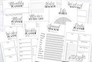 Printable Planner Kit - 10 page bundle - Templates