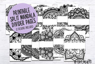 Monthly Divider Pages with Color-in Mandalas -no text - grown up coloring pages for your planner or bujo