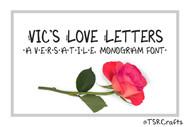 Monogram Font - Vic's Love Letters - A versatile, handwritten, monogram font