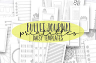 Bullet Journal printable Daisy Doodle Templates