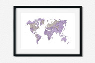 World Art Printable Wall Decor - Printable Wall Art - Abstract World/Earth Printable Art - Wood with Peeled Purple Paint