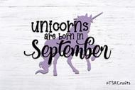 Unicorn SVG / EPS / PNG digital design for diy & crafts - Unicorns are born in September Instant Download Design