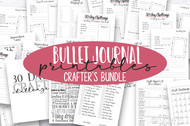 Crafter's Printable Bullet Journal Kit - Includes 30 Day Craft Challenge!