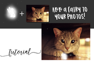 Glowing Fairy PNG digital graphic plus tutorial to layer it over your photos