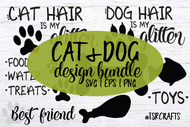 Cat & Dog Design Bundle - 12 Designs in SVG / EPS / PNG